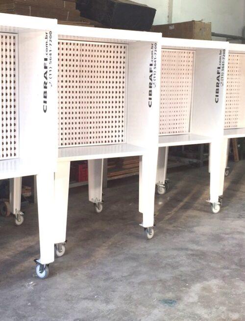 Cabine CCM 1000 Branca em linha